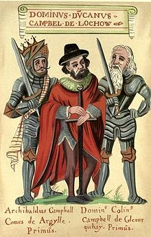 A 16th or 17th century illustration from The Black Book of Taymouth shows Duncan flanked by two of his descendants